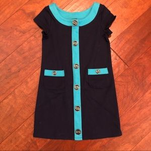 Baby Gap | Girl Toddler Color Block Teal Dress